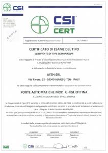 Zertifikate nach EN 13241-1:2003+A1:2011